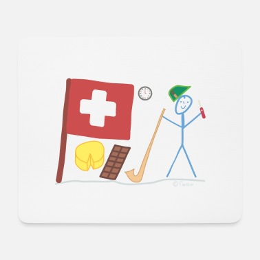Central Europe Switzerland stick figure nation country Central Europe - Mouse Pad