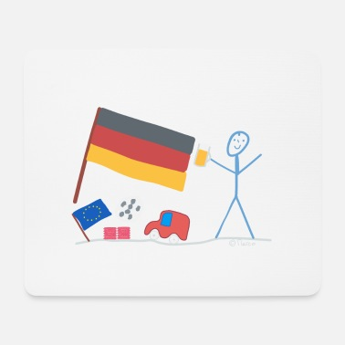 Central Europe Germany stick figure country Central Europe - Mouse Pad
