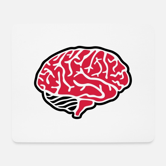 Think Mouse Pads - Brain - Mouse Pad white