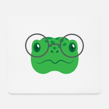 Nerdy Snappy turtle with nerdy round glasses - Mouse Pad