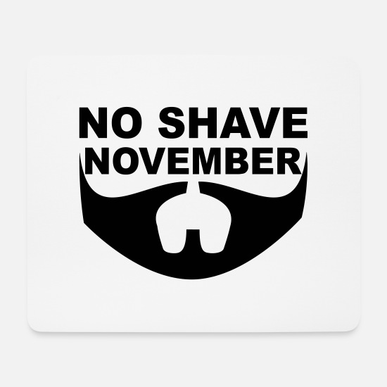 Hair Mouse Pads - No Shave November - Mouse Pad white