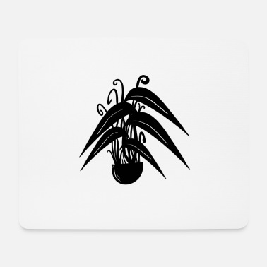 Black Forest Plant / plant in black / white - Mouse Pad