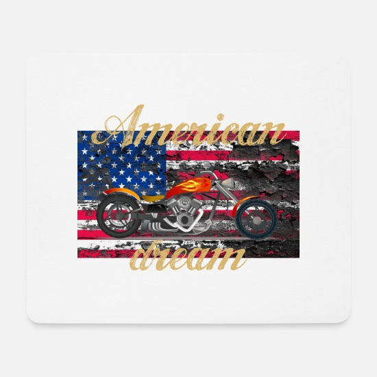 American Football Mouse Pads - American dream choppers - Mouse Pad white