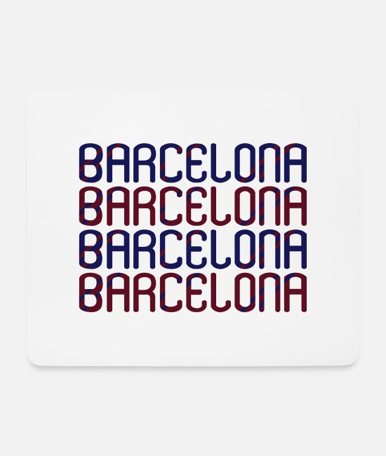 Mediterranean Mouse Pads - Barcelona - Mouse Pad white