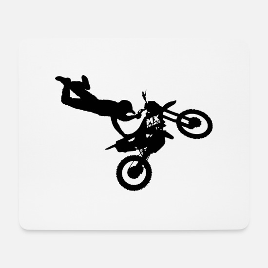Motor Mouse Pads - Freestyle Motocross - Mouse Pad white