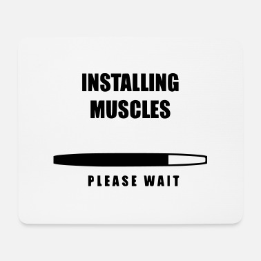 Installing Muscles please wait - Mouse Pad