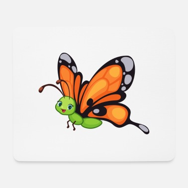 Giraffe Schmetterling Butterfly Zoo Safari - Mousepad