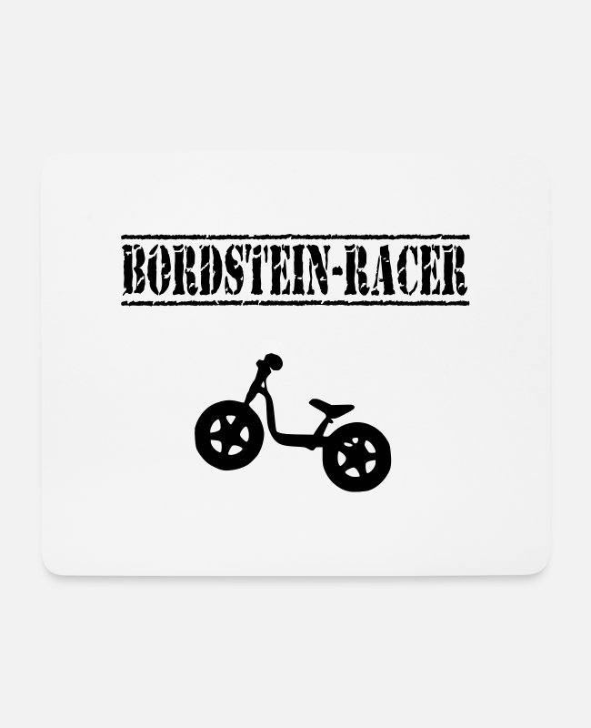 St Mousepads - Laufrad Bordstein-Racer 2 VECTOR - Mousepad Weiß