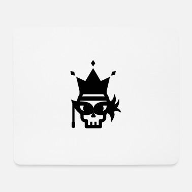 Skull Queen Black - Mousepad