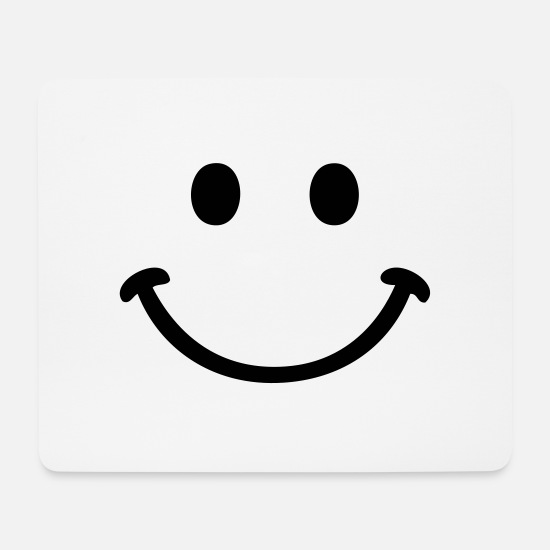 Smile Mousepads  - smile smiley - Mousepad Weiß