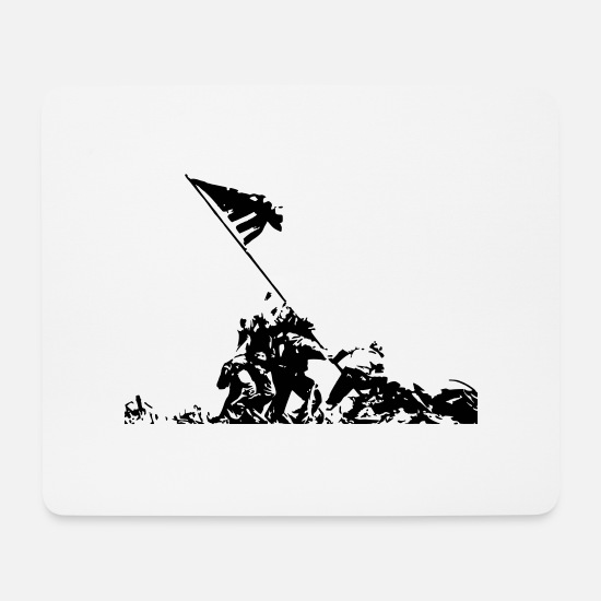 Soldier Mouse Pads - war victory - Mouse Pad white