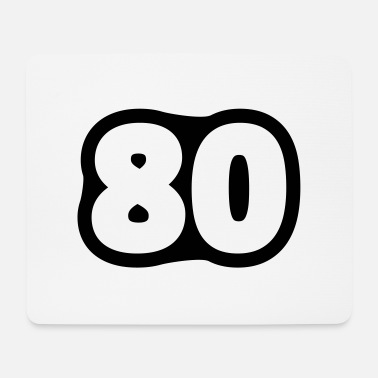 Achtzigster Geburtstag 80 / / Eighty / / Eighty of the birth / / - Mouse Pad