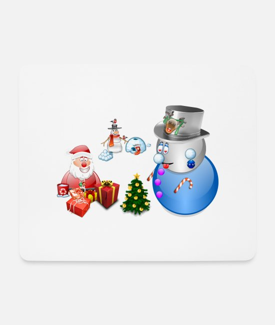 Santa Mouse Pads - Christmas scene 1 - Mouse Pad white