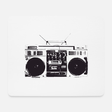 Old School Hip Hop Ghetto blaster vintage, old school hip hop - Mouse Pad