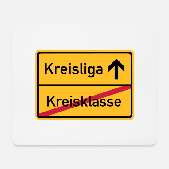 World Champion Mouse Pads - ortsschild_kreisklasse_f3 - Mouse Pad white