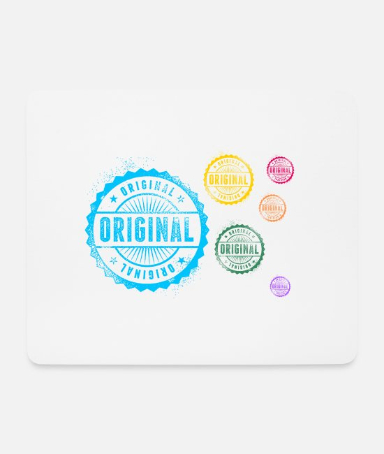 Circular Mouse Pads - original - Mouse Pad white