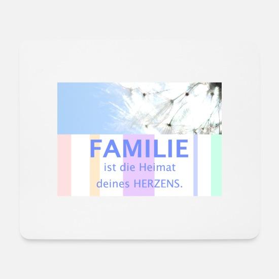 Familie Schöne Sprüche Zitate Deutsch Pusteblume Mousepad Querformat Weiß