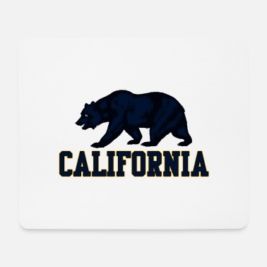 Californië Beer, Grizzly, zwartblauwe tekst Californië - Muismat