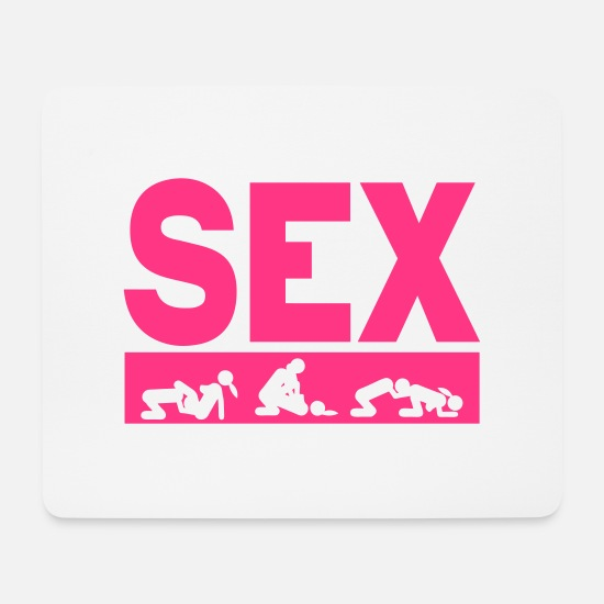 Love Mouse Pads - sex couple position word love icon - Mouse Pad white