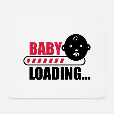 Funny Pregnancy baby loading - funny pregnancy - Mouse Pad