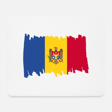 Moldawien Moldova National Flag - brush vertical - Mousepad