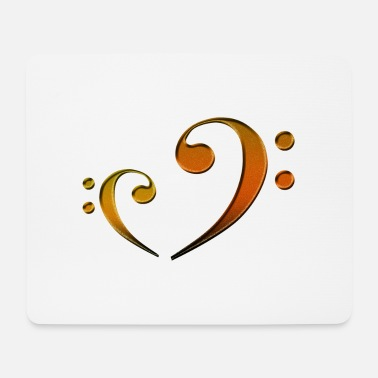 Bass Bass clef - orange - Mouse Pad
