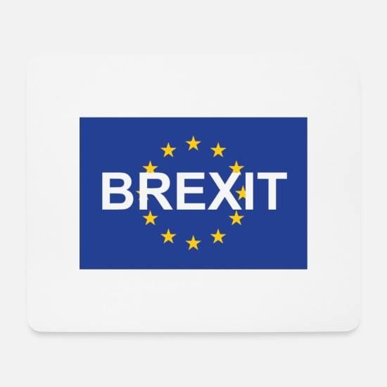 Eu Mouse Pads - Brexit over the EU - Mouse Pad white