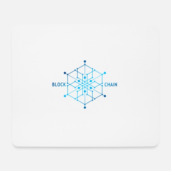 Digital Mouse Pads - block chain - Mouse Pad white