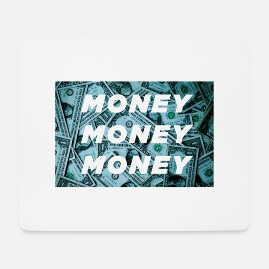Dollars Mousepads  - Money Money Money - Mousepad Weiß