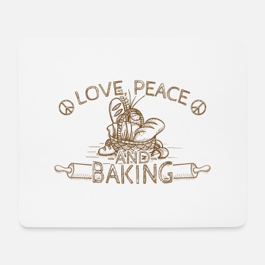 Love Peace Baking Hippie Peace Sign Gift - Muismat