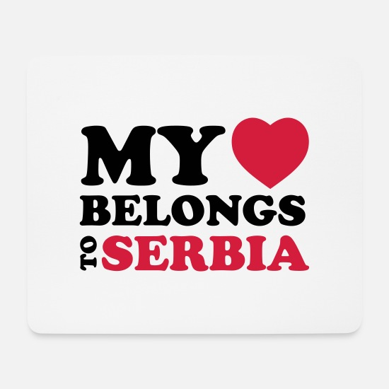 Country Mouse Pads - MHBT SERBIA - Mouse Pad white