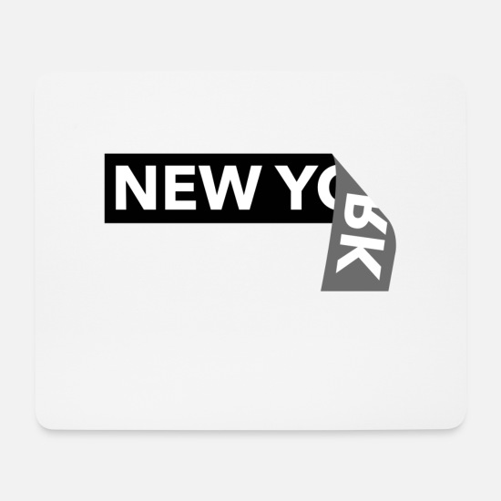 New Orleans Mousepads  - New York - Mousepad Weiß