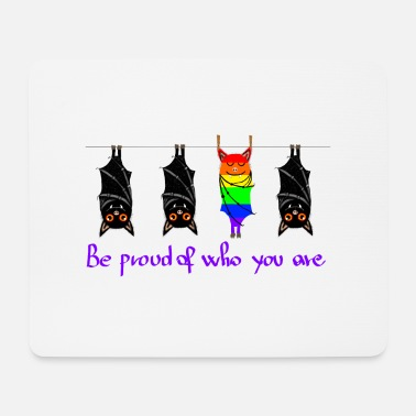 Bats Pride LGBT Be proud of who you are GAY PRIDE - Tappetino mouse