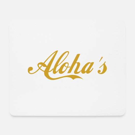 Hawaii Mouse Pads - ALOHA'S - Mouse Pad white