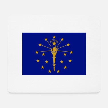 State Capital Indiana State Flag - Mouse Pad