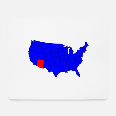 State Capital State of Arizona Location - Mouse Pad