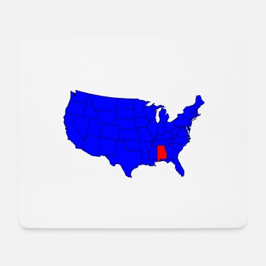 State Capital State of Alabama Location - Mouse Pad
