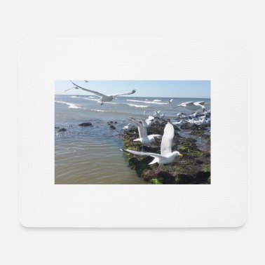 North Sea Seagulls on Norderney - Mouse Pad