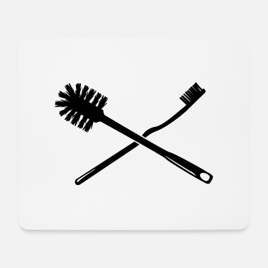Toilet Brush Toothbrush and toilet brush - Mouse Pad