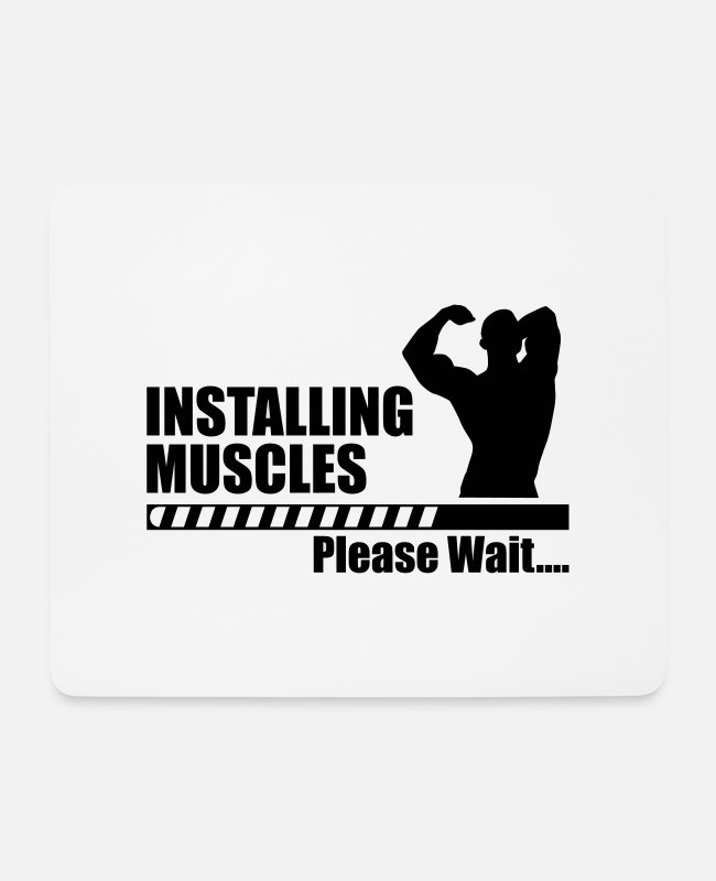 Loading Bar Mouse Pads - Installing Muscle - funny gym - Mouse Pad white