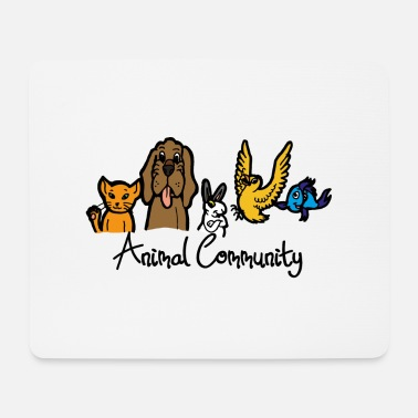 Community Animal Community Forum Animaux Pet Shop Text - Tapis de souris (format paysage)