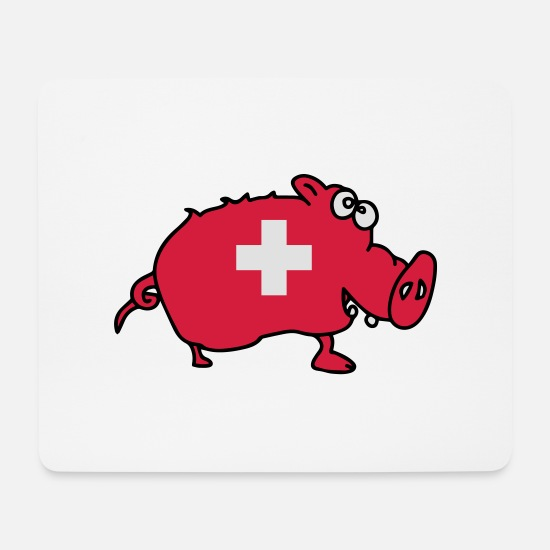Flag Mouse Pads - carte_suisse8 - Mouse Pad white