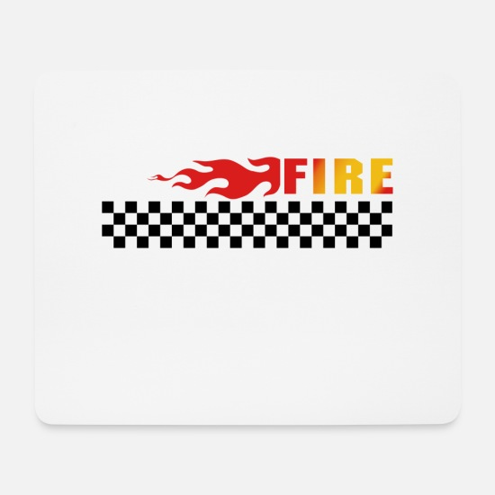Streetstyle Mousepads  - Feuer - Mousepad Weiß