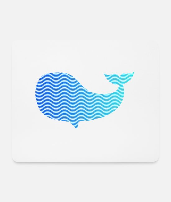 Water Mouse Pads - wale from waves and sea - Mouse Pad white