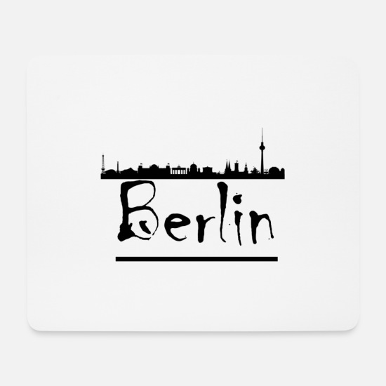Skyline Of Berlin Mouse Pads - Berlin skyline - Mouse Pad white