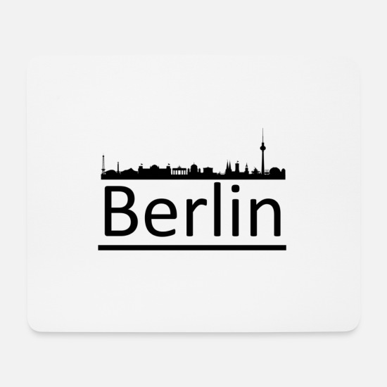 Friedrichshain Mouse Pads - Berlin - Mouse Pad white