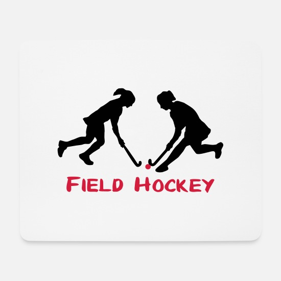 Hockey Mouse Pads - Field Hockey women - Mouse Pad white