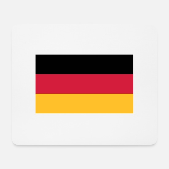 Flag Mouse Pads - National flag of Germany - Mouse Pad white
