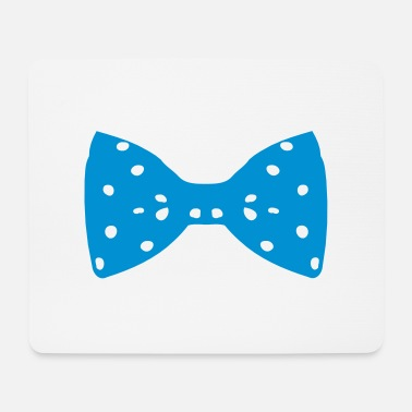 Childhood Cancer Awareness ♥•Vector Classic Fabulous Polka dot Blue Bow Tie•♥ - Mouse Pad