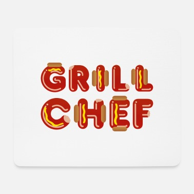 Braten Grill-Chef (Wurst) - Mousepad